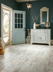 Example of how light laminate flooring could look in an entryway in Saskatoon